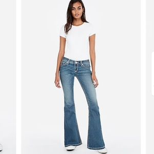 Express Low Rise Bell Flare Jeans NWT